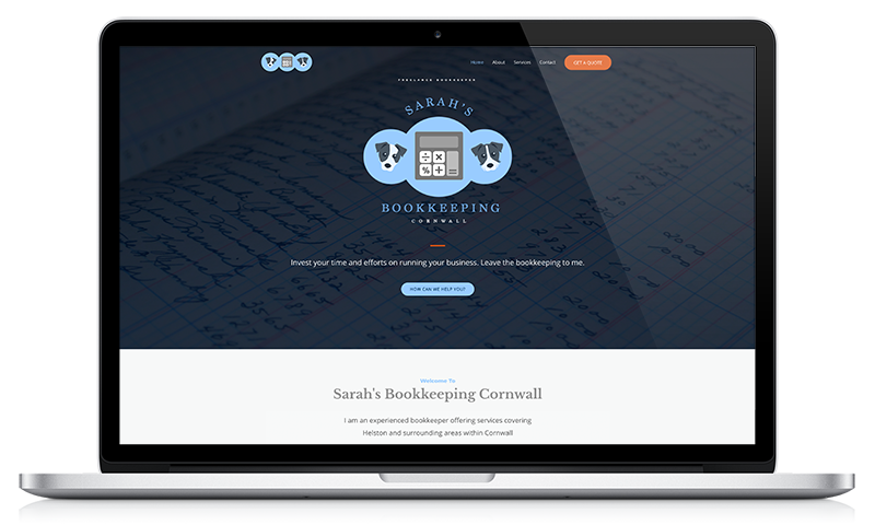 Bookkeeping Services Cornwall website by Black Hen