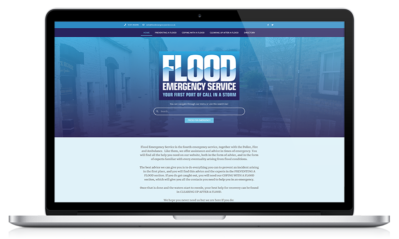 Flood Emergency Service website by Black Hen