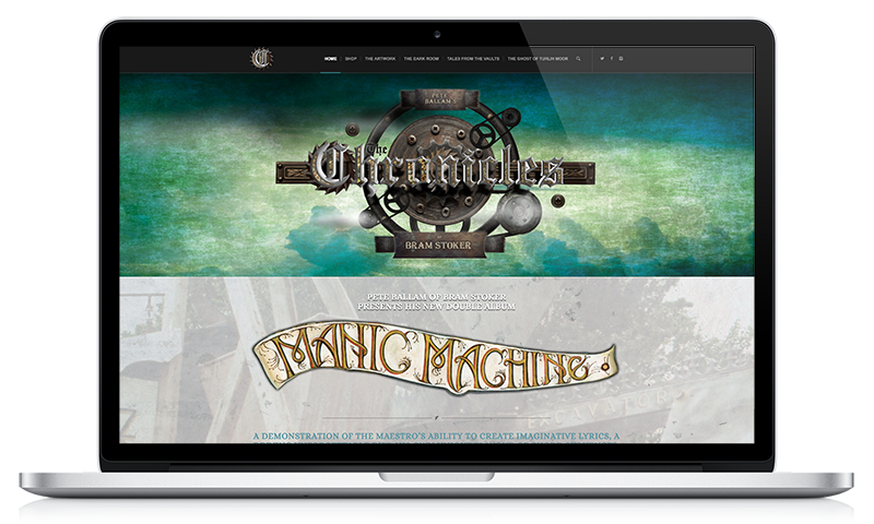 Manic Machine website by Black Hen