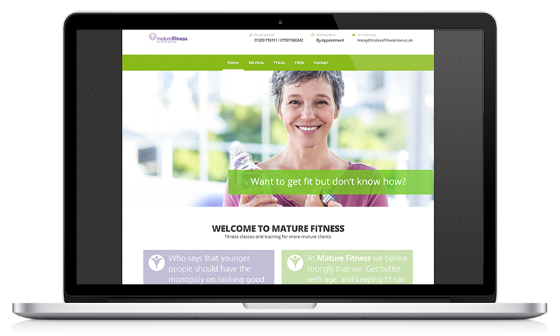 Mature Fitness Now website by Black Hen