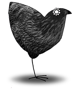 Stylised illustration of a hen