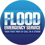Flood Emergency Service logo in a circle